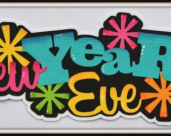 CraftECafe New Years Eve Paper Piecing for Premade Scrapbook Page Layout Embellishment