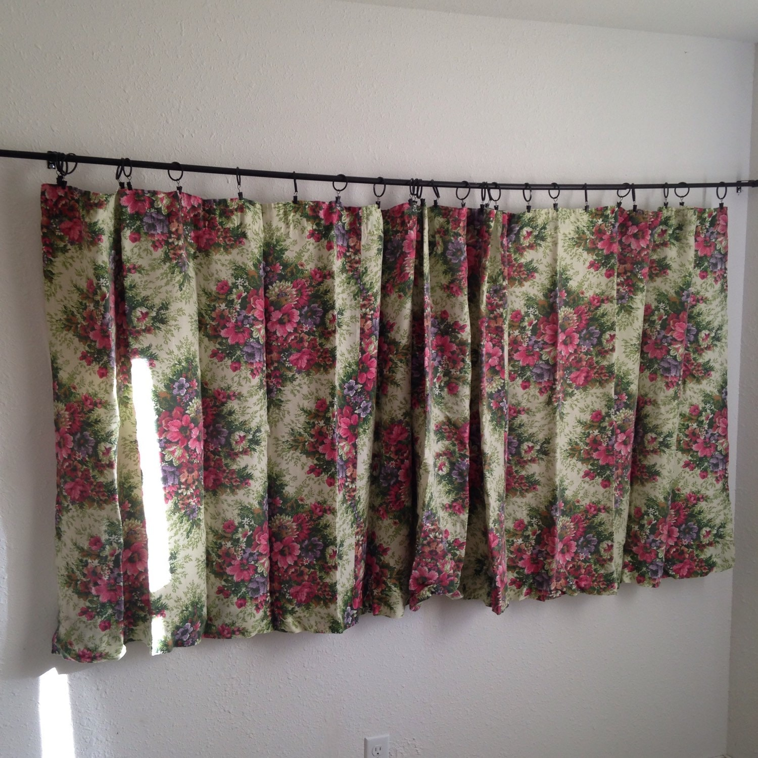 Vintage Floral Curtains Vintage Short Wide Curtains Vintage