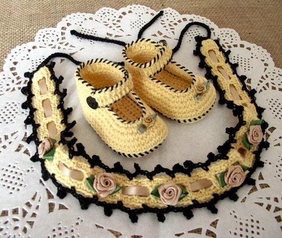 CROCHET BABY PATTERN Baby Set Baby Crochet Shoes and Headband