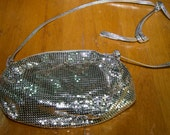 Vintage Authentic Whititing and Davis Silver Metal Mesh Purse