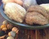NEW Fur and Pelts Sampler - Needle Felting Wool - Wet Felting Wool