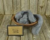NEW Smoke - Needle Felting  Wool - Natural Wool Roving -Wet Felting Wool-Nuno Felting