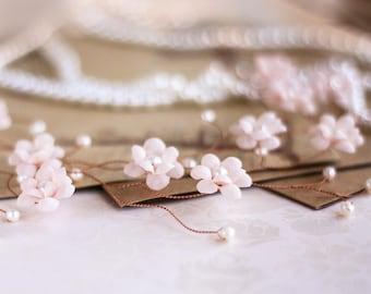 20_Vintage Headpiece, Wedding Crown, Pink gold Headpiece, Vintage Style crown, Millinery Headpiece, Bridal flower crown, Pearls Headpiece