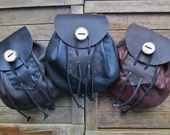 Sporran Leather Bag, Medieval Renaissance Pouch, Large - Choose Your Color - THE HIGHLANDER