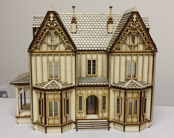 Dollhouse Miniature Tudor Dollhouse, Quarter Inch Scale, Margaret