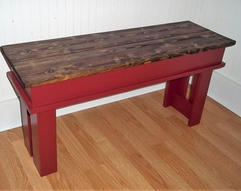 Farmhouse Bench - 36 inch Bench - Entryway Bench - Foyer Bench - Kitchen Bench