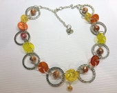 Citrus Colored Button Necklace