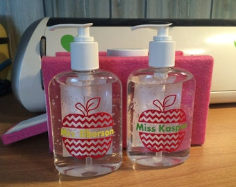 Personalized teacher hand sanitizer