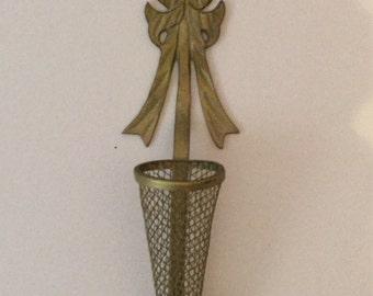 Vintage Cast Hanging Vase Wall Vase