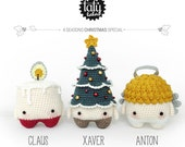 4 seasons: CHRISTMAS Xmas (candle, christmas tree, angel) • lalylala crochet pattern / amigurumi