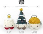 4 seasons: NOËL (cièrge, sapin de noël, l'ange) • lalylala patron au crochet / amigurumi
