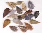 "1.5"" Agate Arrowheads Stone Knapped Arrowhead Spear Point Reproductions"