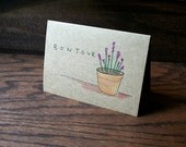 French Lavender // Hand Drawn Card // Plants // Botanical // Flower