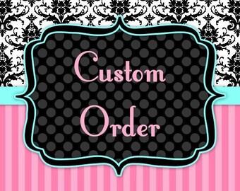 Custom order - Gold map wine stopper