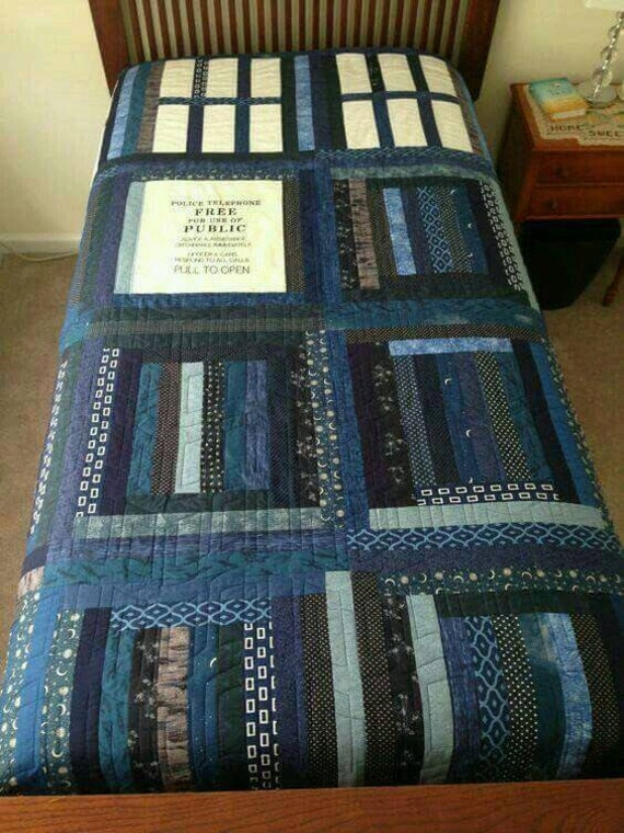 Dr Who Quilt Twin Size