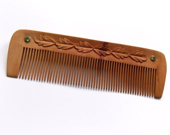 Hair Accessories, Valentines gift, Wooden Hair Comb, Wood carving, Handcrafted Comb, Personalized gifts, Womens gift, Handmade by MariyaArts