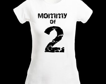Mommy of 2 Tee Shirt Mom of 3 Shirt Mommy 3 T Shirt Custom T Shirt