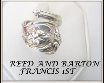 Reed and Barton Spoon Ring - Vintage Francis 1st Pattern - Sz 7 Wrap Ring