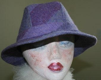 Vintage Irish Walking Hat Tweed Wool Avoca County Wicklow Ireland