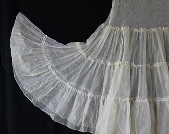 50s Petticoat New Form Pin Up Rockabilly Circle Skirt Off White