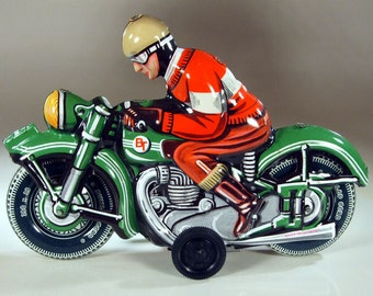 Super Nice Tin Friction Motorbike from Germany