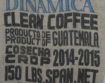 Burlap Coffee Bag Coffee Beans Dinamica Coffee Gunny Sack Guatemala Cosecha Crop Advertising