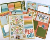 Travel Scrapbook Page Kit 12x12 or Premade Pre-Cut with Instructions 6 pages Tropical Beach