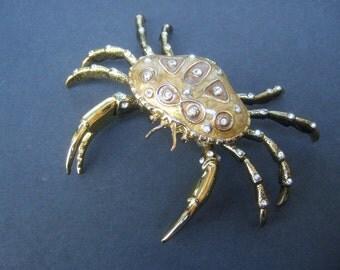 Unique Crystal Enamel Small Crab Trinket Collectible