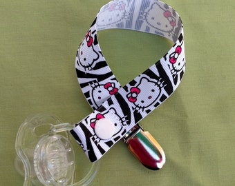 Hello Kitty Zebra Print Pacifier Holder