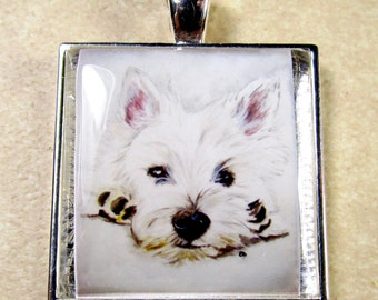 West Highland White Terrier Pendant, Westie Necklace, Westie Jewelry, Westie Pendant, Westie Gifts, Westie Mom Gifts, Gift for Westie Mom