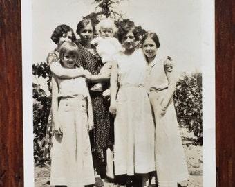 Original Antique Photograph Female Bonding 1931