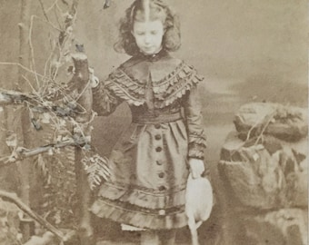 Original Antique CDV Photograph The Girl at the Water
