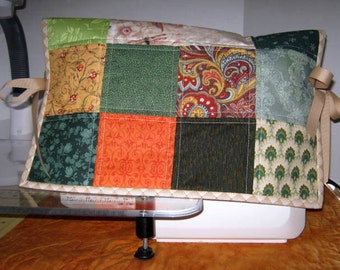 Scrappy Quilted Sewing Machine Dust Cover, Embroidery Machine Cover Protector