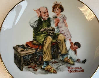 Vintage Lot of 4 Norman Rockwell Plates