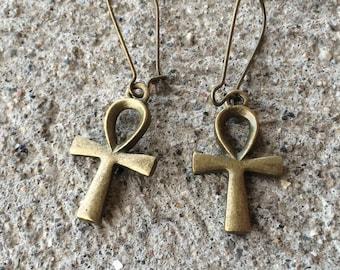 Handmade Ankh Jewelry - Ankh Earrings - Egyptian Earrings - Eternal Life Jewelry