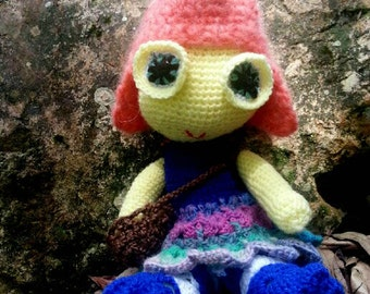 Crochet Carrot Fairy Pattern, pdf instant download