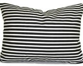 BLACK Pillow Covers Sale,  Black Decorative Pillow, Throw Pillow, Striped Pillows, Pillow, Pillow Covers, Cushion. 12x16 or 12x18 inch