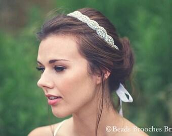 Rhinestone Headband, Wedding Headband, Crystal Bridal Headband, Rhinestone Crystal Headband, Wedding Headpiece, Sparkle Glam Headpiece