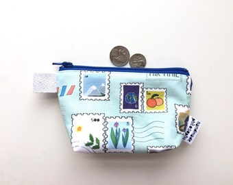 You've Got Mail Divided Mini Flat Bottom Pouch / Coin Purse (handmade philosophy's pattern)