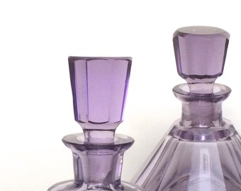 Beautifull boudoir set. Cristal. Violet,amethyst.1930.Vanity set