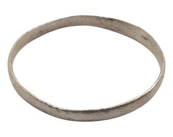 Ancient Viking Wedding Ring Silver over bronze  C.900A.D. Size 10  (19.6mm) [PWR1060]