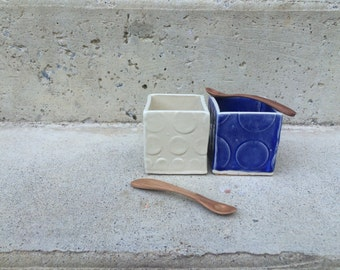 Blue and White Porcelain Cellars