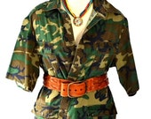 CRAZY SALE Short Sleeve Vintage Camo Top/Jacket