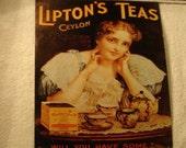 Lipton's Teas Vintage Look Reproduction Metal Sign Kitchen Metal Sign Home Decor Tea Sign