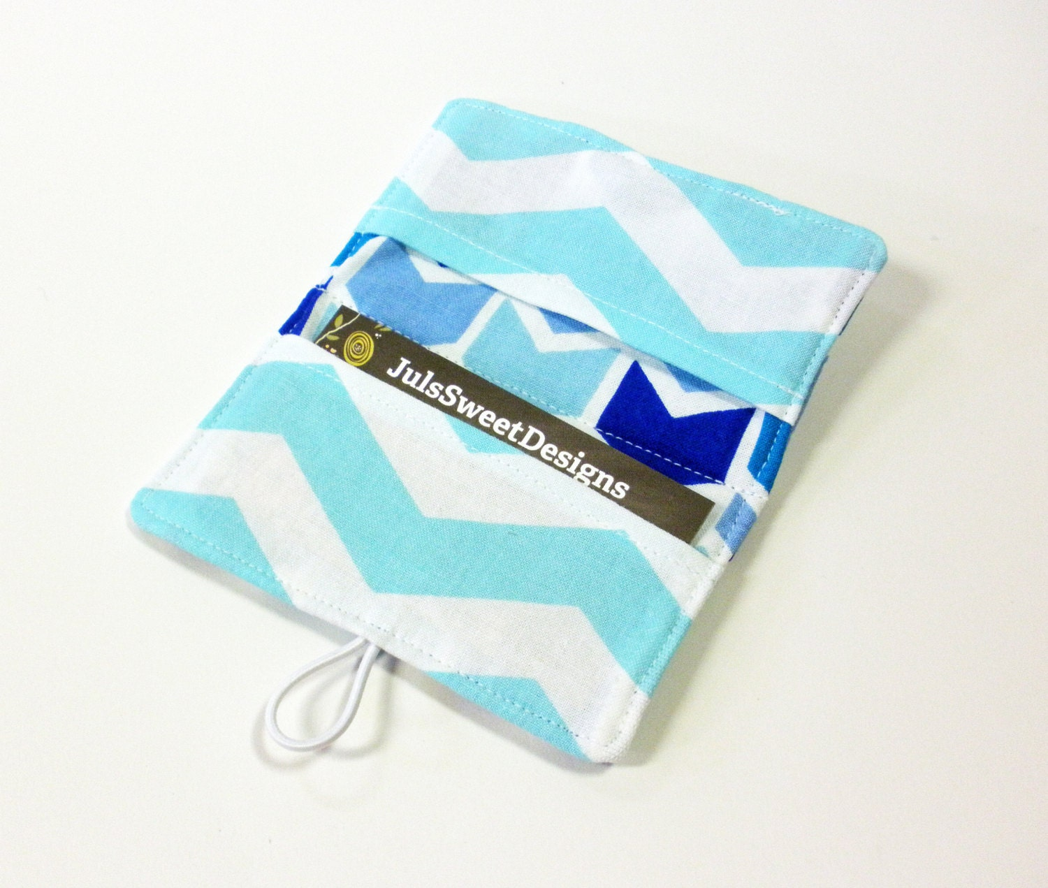 Blue multi broken chevron fabric business card holder with spa blue multi broken chevron fabric business card holder with spa sassari chevron credit card reheart Image collections