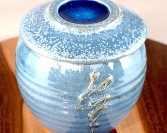 Country Blue French Butter Keeper