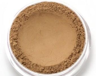 "Mineral Wonder Powder Foundation - ""Hazelnut"" - medium to dark shade with a yellow undertone - vegan makeup"
