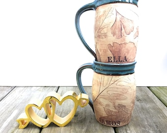 Custom Mug - Personalized Coffee Mug - Handmade mug - Rustic Mug