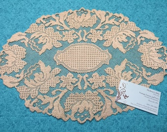 Vintage Ivory lace doily for christmas, holiday, housewares, home decor, valentines by MarlenesAttic