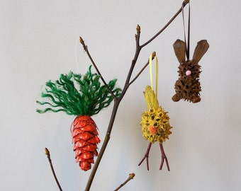 Easter Ornaments Set of Three